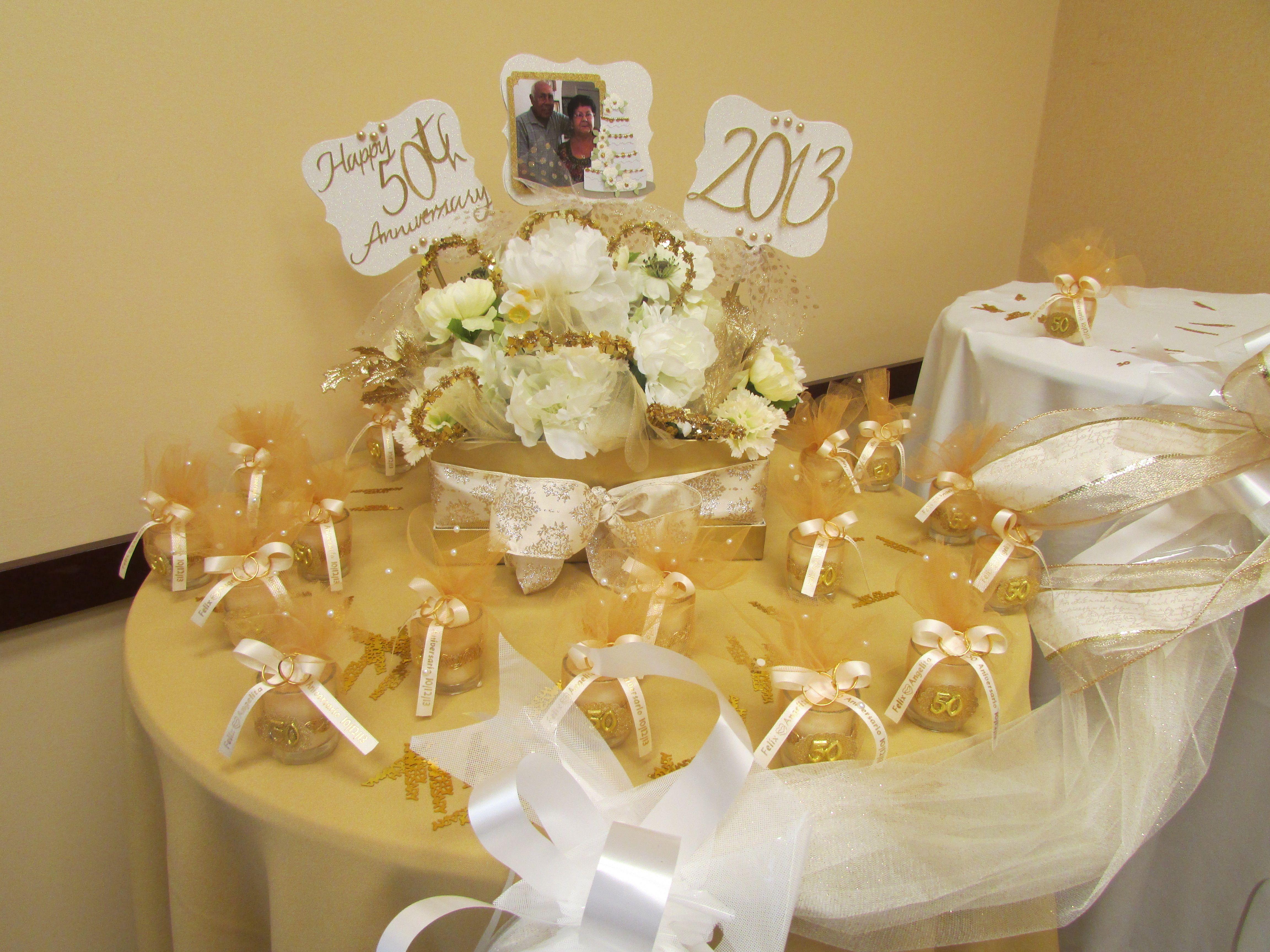 Cake Table Decor For 50th Anniversary Reception 50th Anniversary Reception Cake Table Decorations 50th Wedding Anniversary