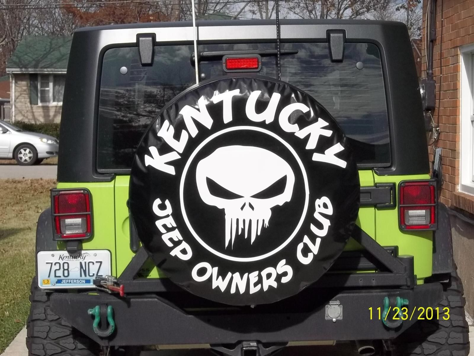 Custom Spare Tire Cover For Kentucky Jeep Owners Club Custom