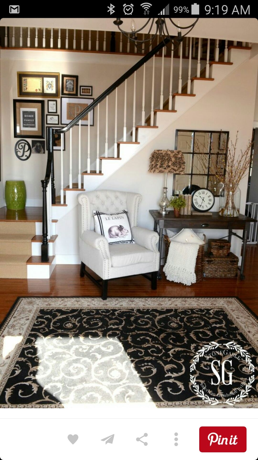 I Like How The Frames Stair Step Like The Stairs Foyer Decorating Home Decor Decorating Rules #step #by #step #decorating #living #room
