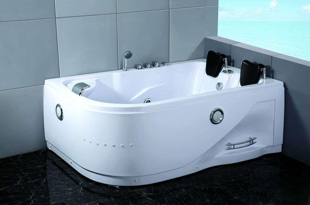 2 Person Indoor Whirlpool Hot Tub Massage Bathtub 052A WHITE | Hot ...