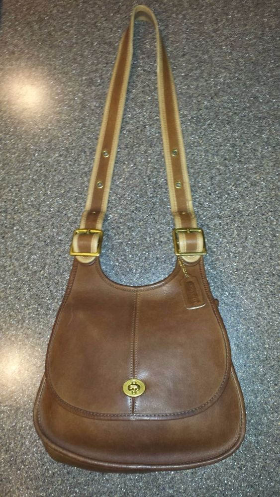 985e5cc55bb8 vintage Coach Berkeley Saddle Bag Made in NYC