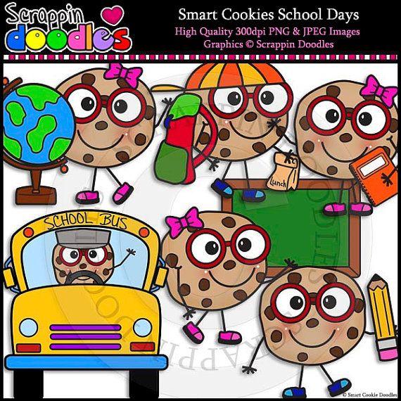 Smart Cookie School Days Clip Art & Line Art