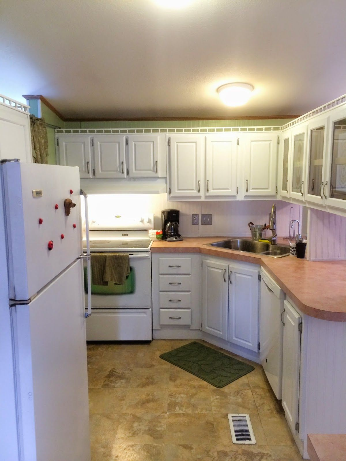 Roughly 150 Kitchen Makeover Mobile Home Mobile Home Kitchens Mobile Home Kitchen Cabinets Home Kitchens