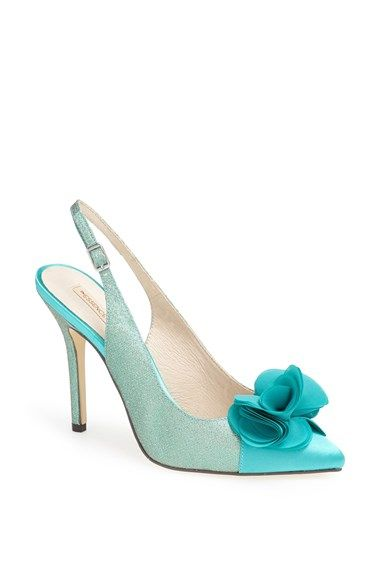 56f603da1d4 Free shipping and returns on Menbur  Fairfax  Pump at Nordstrom.com. A  floral accent provides a fanciful flourish for a slingback pump with a  glittery