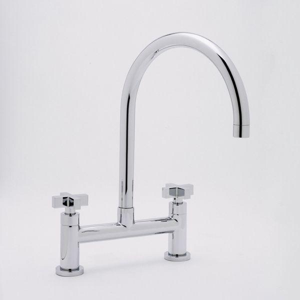 rohl modern bridge faucet modern