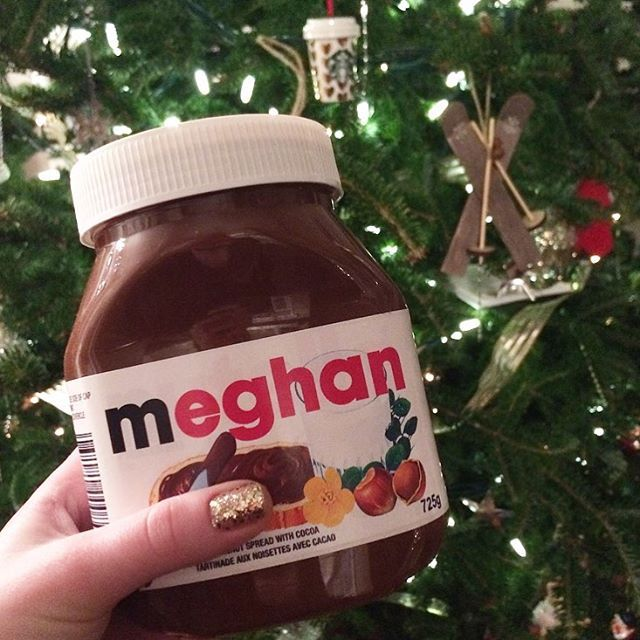 Yorkdale Style On Instagram On The Tenth Day Of Christmas Yorkdalefashionsanta Gave To Me A Personalized Jar Of Nutella Fr Nutella Gift Guide Nutella Bottle