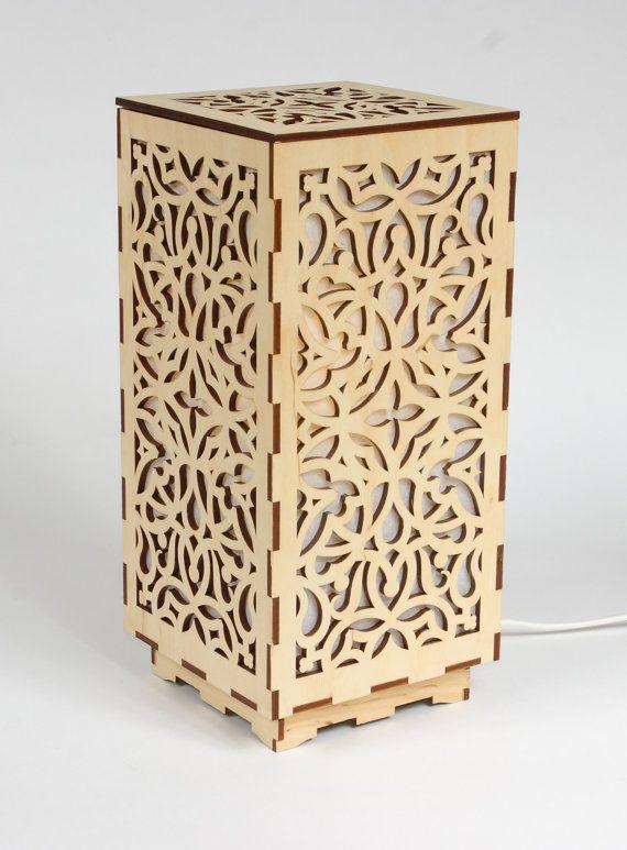 Wooden lamp / Decorative lamp / Laser cut wood lamp ...
