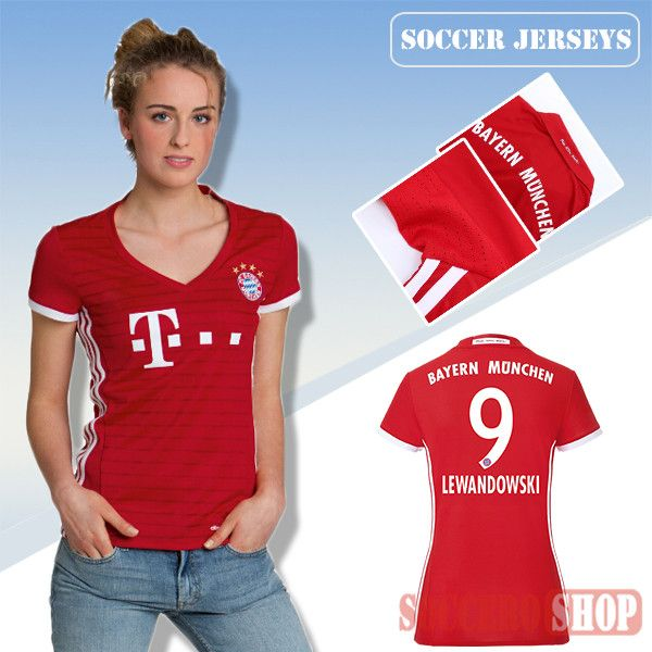pretty nice 44bb1 429fc Newest Cool Bayern Munich Red/White 2016/17 Home Womens ...