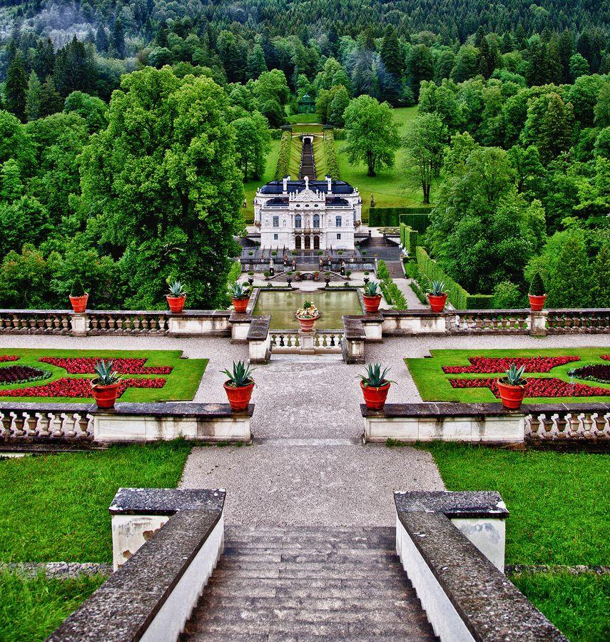 Schloss Linderhof Graswangtal Bayern Schloss Linderhof Schloss Hof