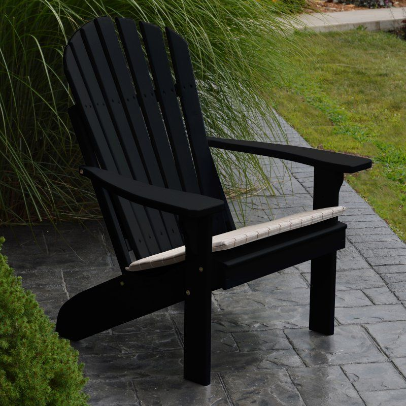 A & L Furniture Yellow Pine Fanback Adirondack Chair