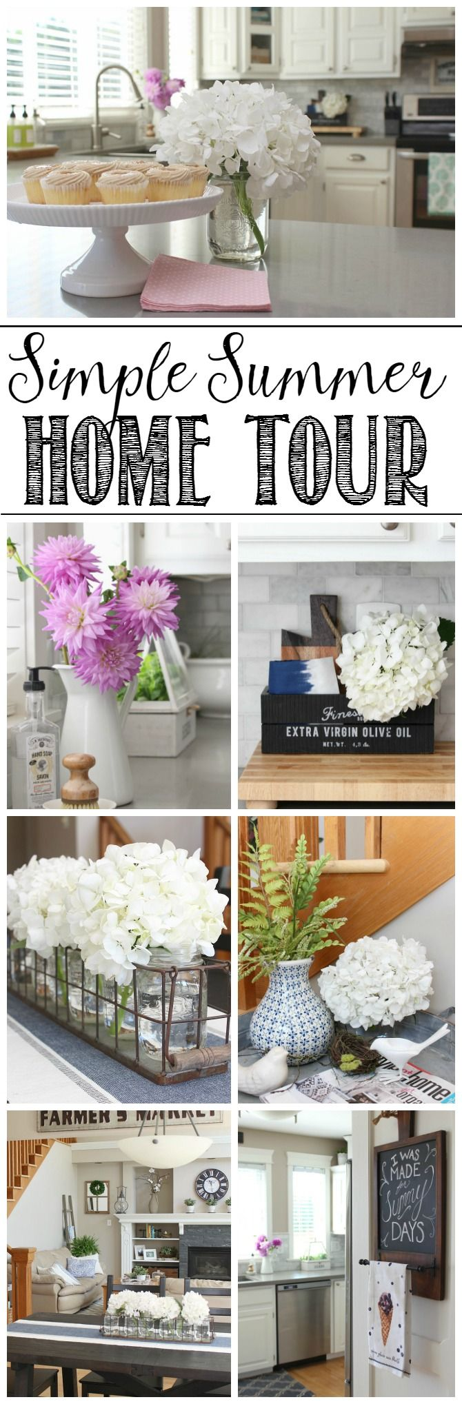 Beautiful simple summer home tour and summer decor ideas. Clean and Scentsible #OMHGWW