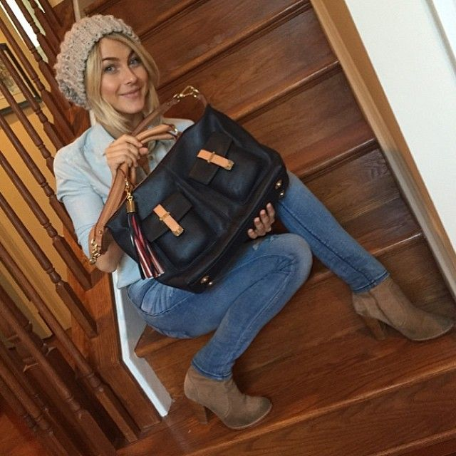 b0c9669def6 Humanitarian chic: Julianne Hough with her Tommy Hilfiger Breast Health  International bag. Supporting an important cause has never looked so good.