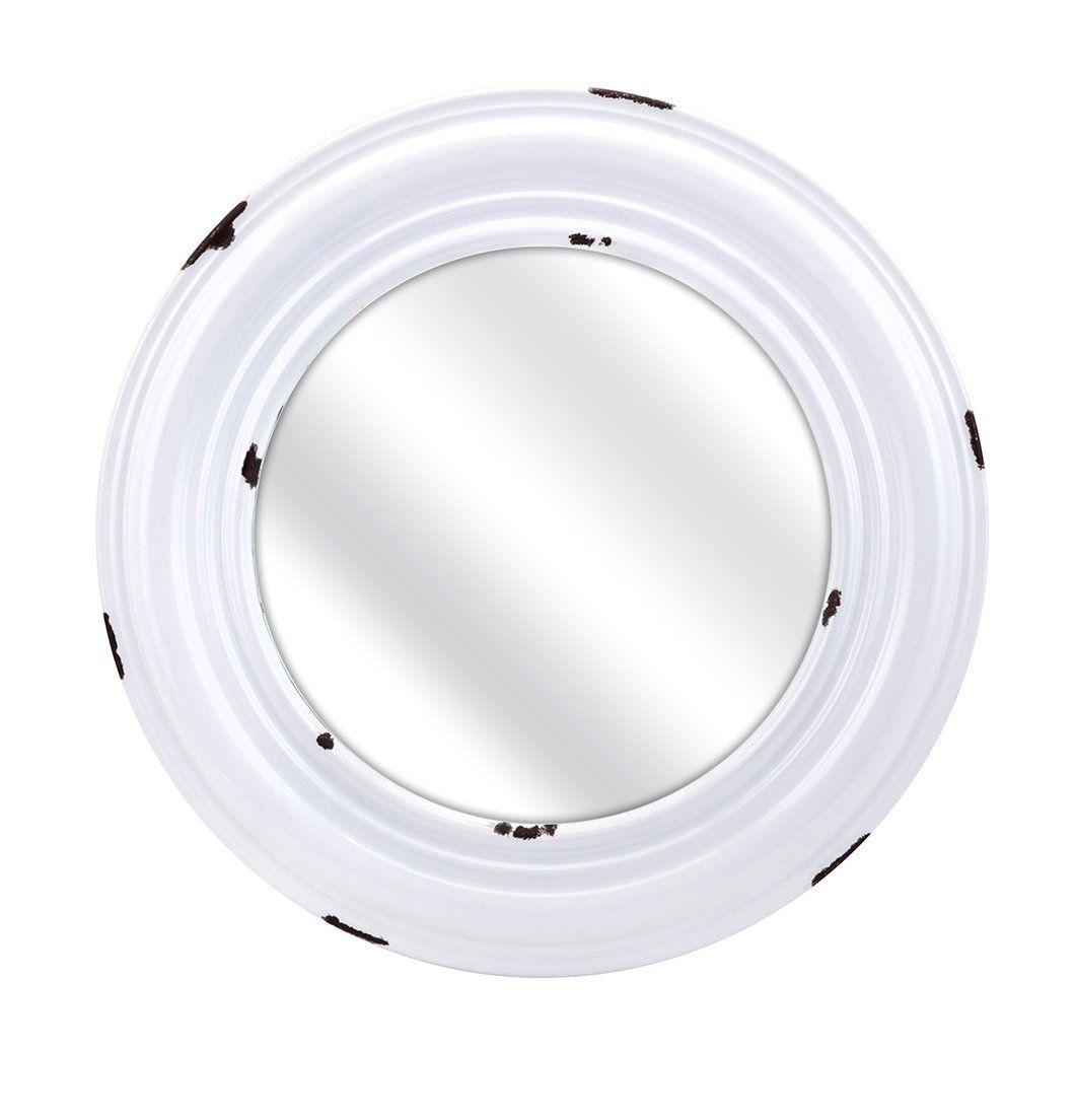 Burton large enamel round wall mirror round wall mirror