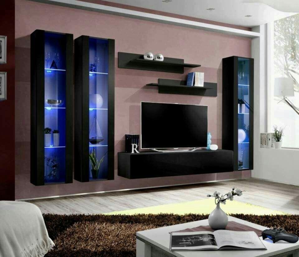Pingl Par Kusno Utomo Sur Wall Units Pinterest # Modele De Meuble De Television