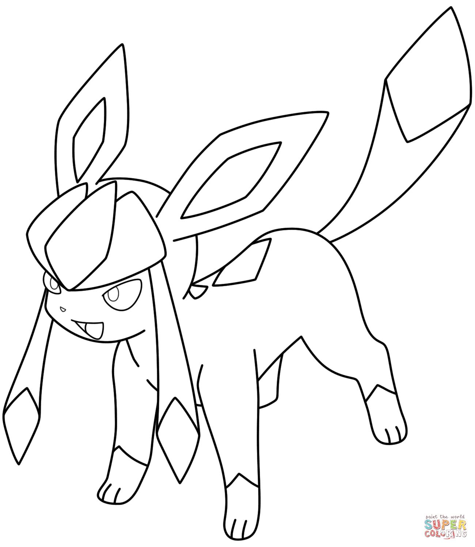 Glaceon Pokemon Coloring Page Maleboger Pokemon Tegn