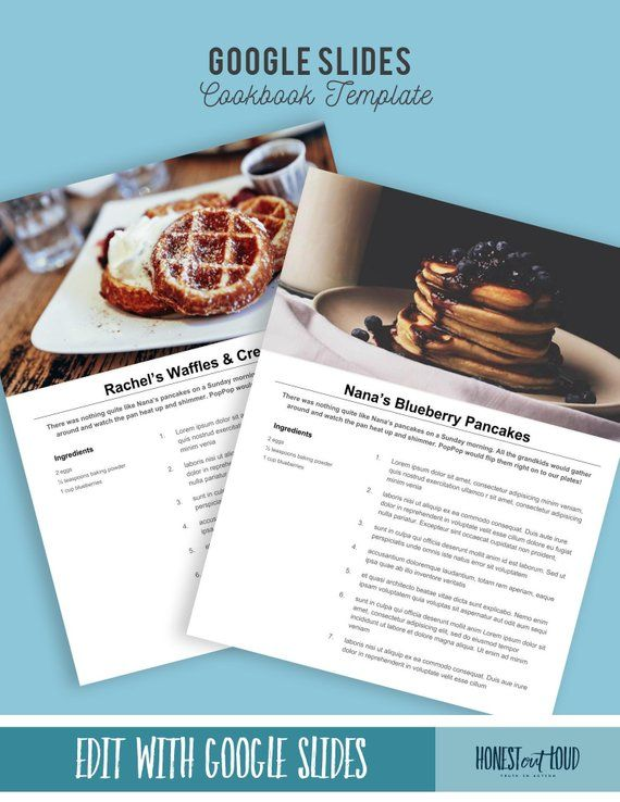 Printable Recipe Template 8 5x11 Instant Download Google Slides Google Drive Mac And Pc Onlin Recipe Template Recipe Book Templates Cookbook Template