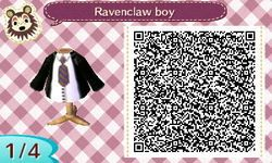 Ravenclaw Boys Outfit Harry Potter Hp Animal Crossing New Leaf Qr Code Acnl Pinned By Stephy Sama Ac New Leaf Karo