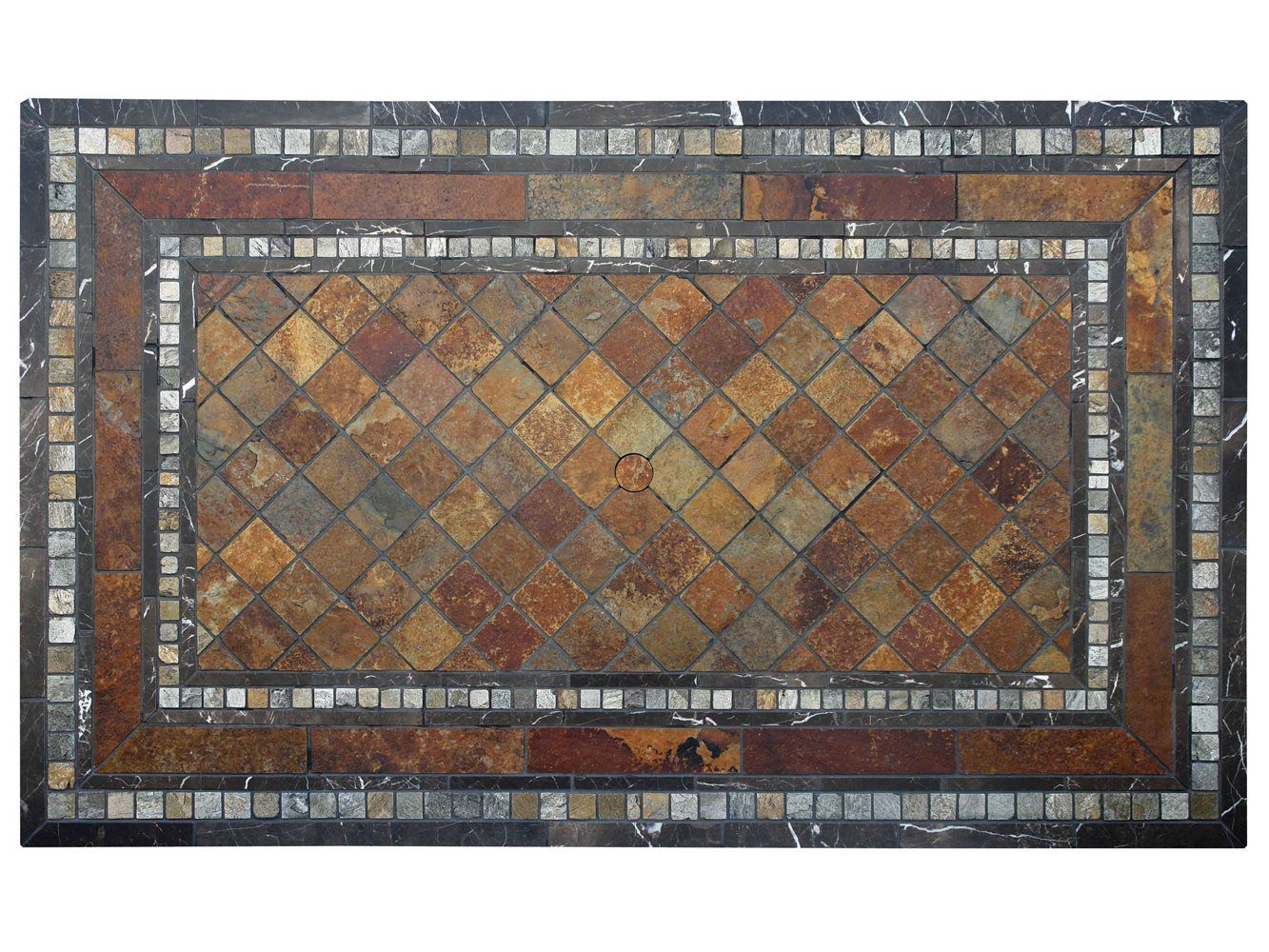 Good Paragon Casual Mosaic 84 X 44 Rectangular Wineberry Table Top   T06284G
