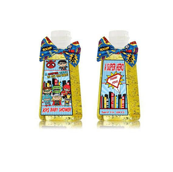 Super Hero Mini Hand Sanitizer Label Fish By Detaillicious On Etsy
