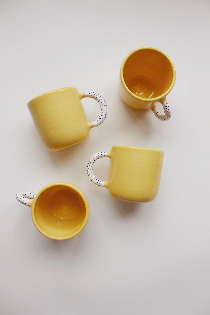 Yellow Pottery mug, Tea cup, Ceramic cup, Oversized Mug, Сoffee cup, Coffee Lovers Gift, New home gift, Housewarming gift, Ceramic mug