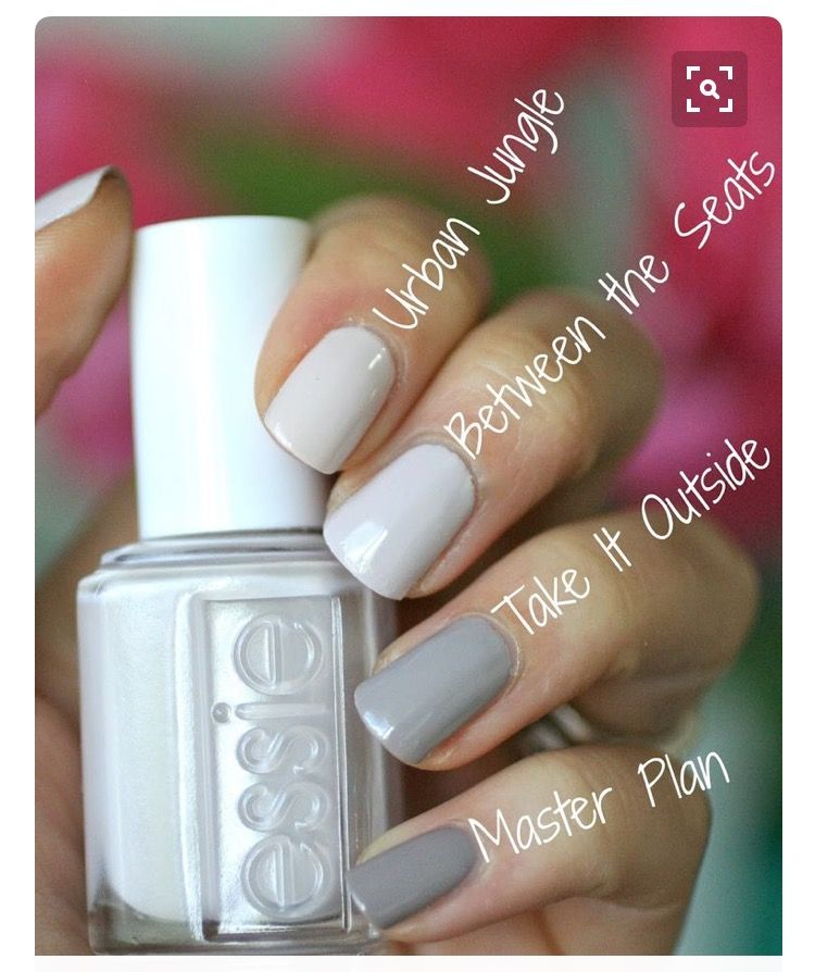 Blue Grey Nail Polish Essie: Urban Jungle, Between The Sheets, Take It