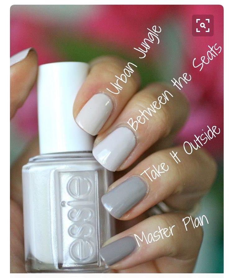 Essie Greys | looks. | Pinterest | Diseños de uñas, Esmalte y Manicuras