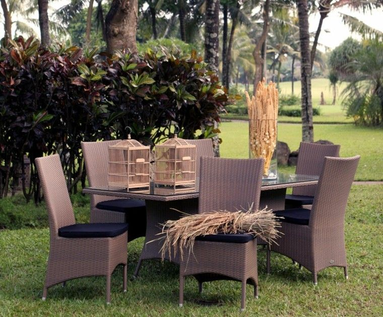 muebles de comedor de jardin de rattan marrón | comedor 1 | Pinterest
