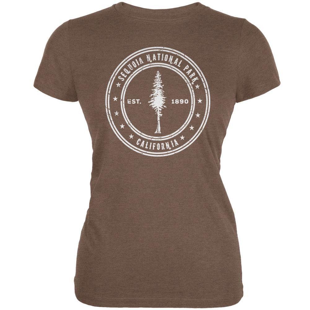 Hawaii Volcanoes National Park Dark Heather Juniors Soft T-Shirt