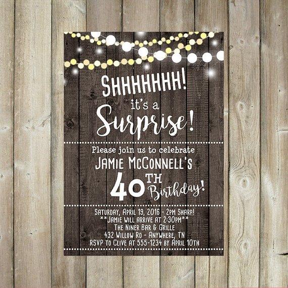 Adult Surprise Birthday Invitation