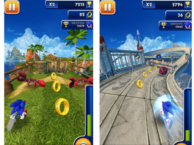 Juegos para Niños: Descarga gratis Sonic Dash para ios