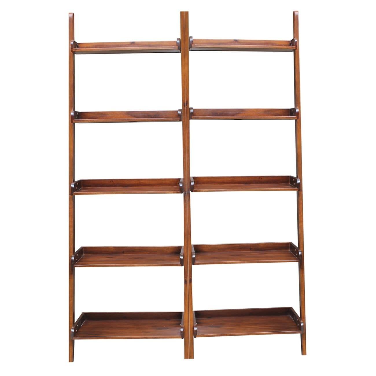 Brown leanto tier shelf unit set set of products