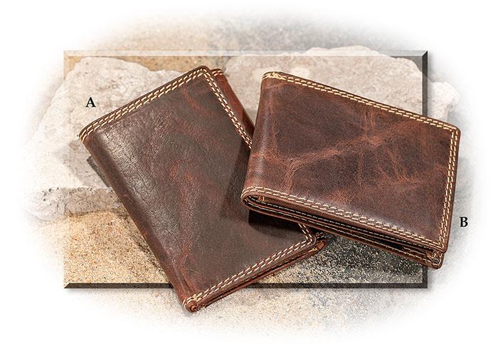 Water Buffalo Leather Bi Fold Or Tri Fold Wallet Water Buffalo Leather Buffalo Leather Trifold Wallet