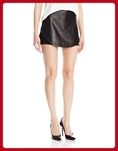 BCBGeneration Women's Faux Leather Skort, Black, 2 - All about women (*Amazon Partner-Link)