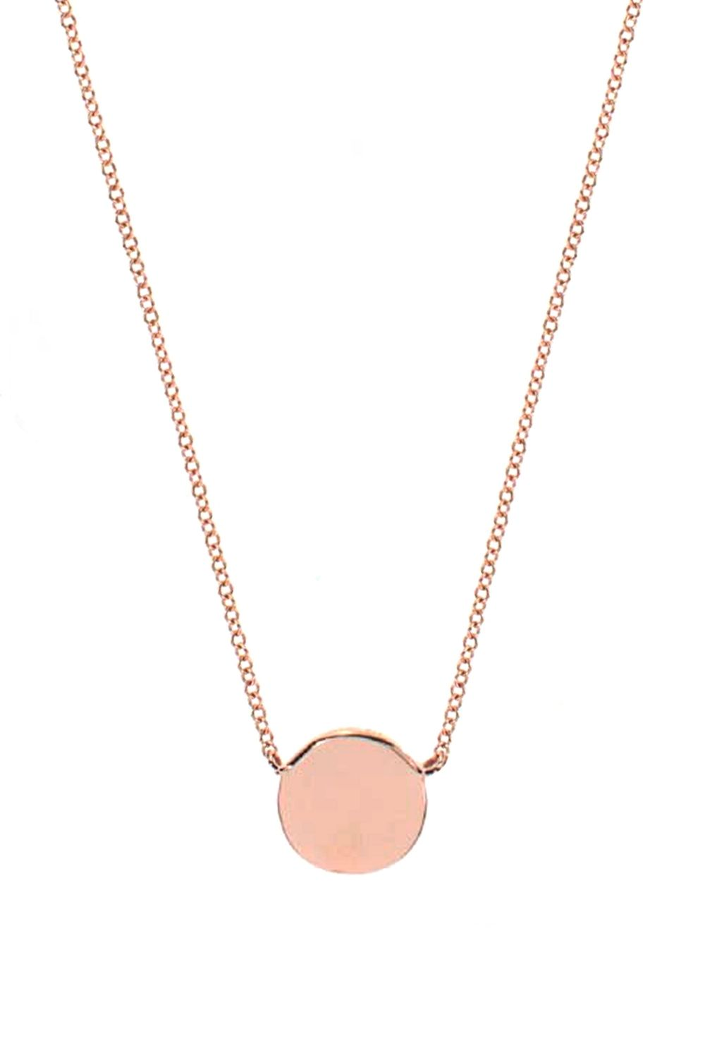 collierkettchen 14k rose gold disc charm