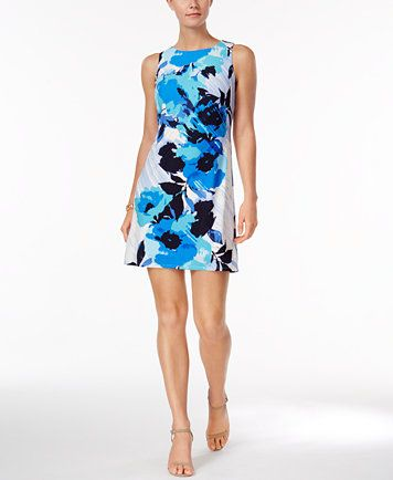 449c85541d513 Jessica Howard Petite Floral-Print Shift Dress