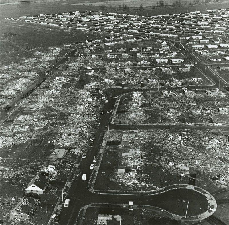 Xenia Tornado April 3, 1974. Devastation! Hard To Believe