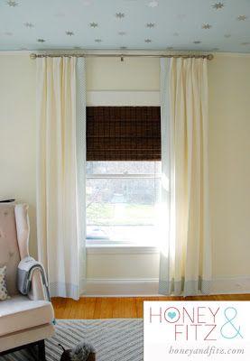 Diy No Sew Blackout Lined Bamboo Shades Kamer