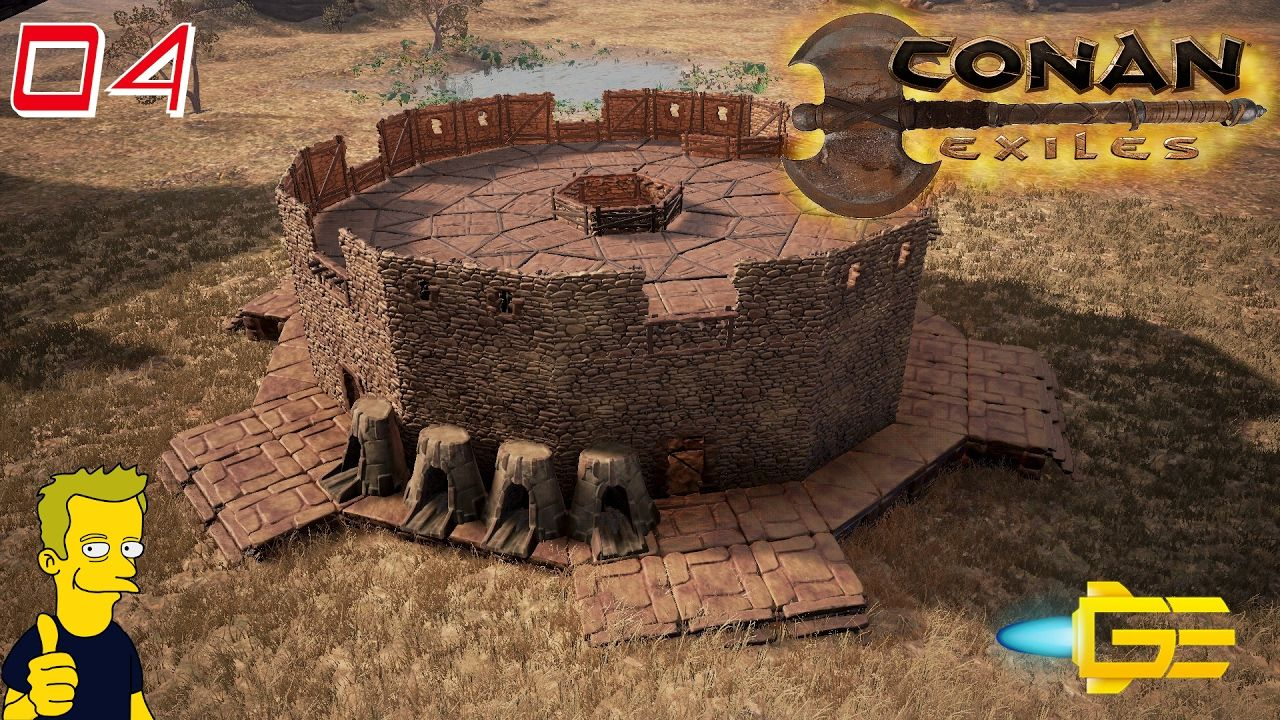 CONAN EXILES - PvP BASE HQ!! - Gaming Evolved S1 E4