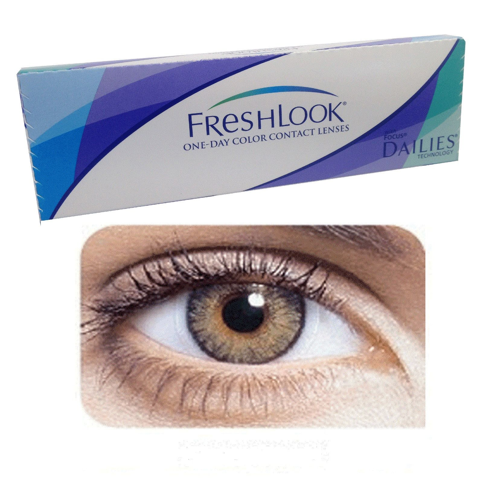 Freshlook One Day Color Pure Hazel Contact Lenses 10 Pack Pure Hazel Contacts Green Contacts Lenses Hazel Contacts