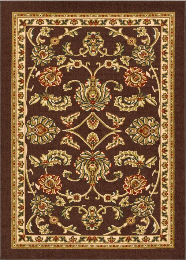 Tabriz Brown Traditional Non Slip Washable Rug Products