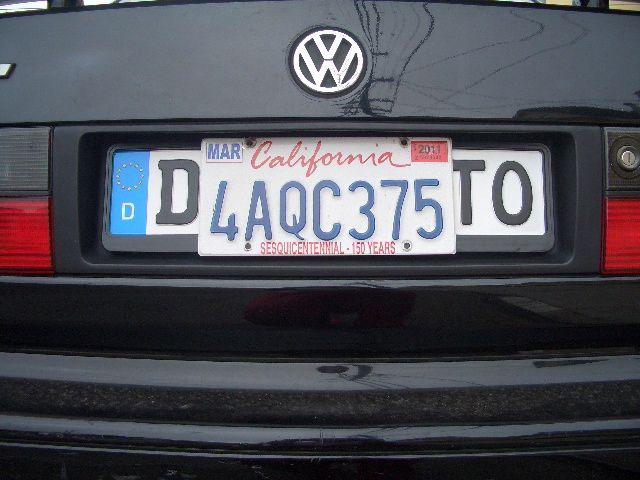 Us License Plate Over Euro Plate Google Search Bmw E36 7 8