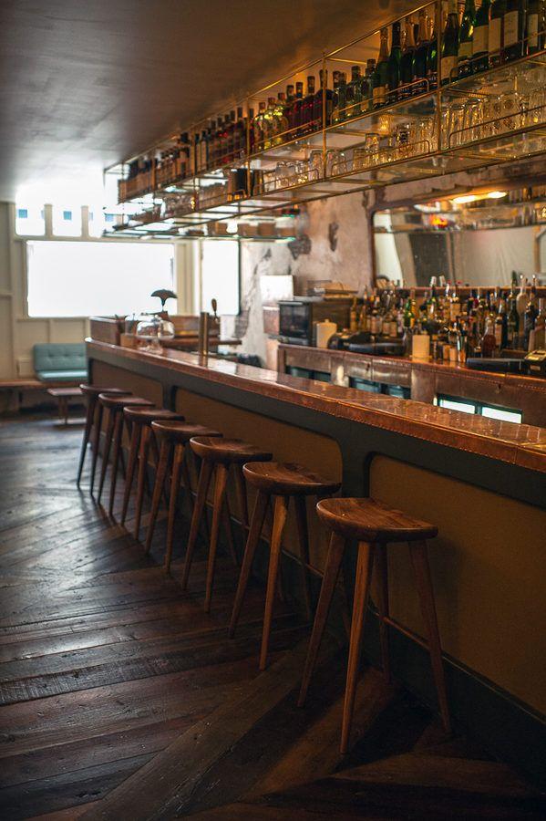 Bar Design Simpler Storage Island Idea Restaurant Interior