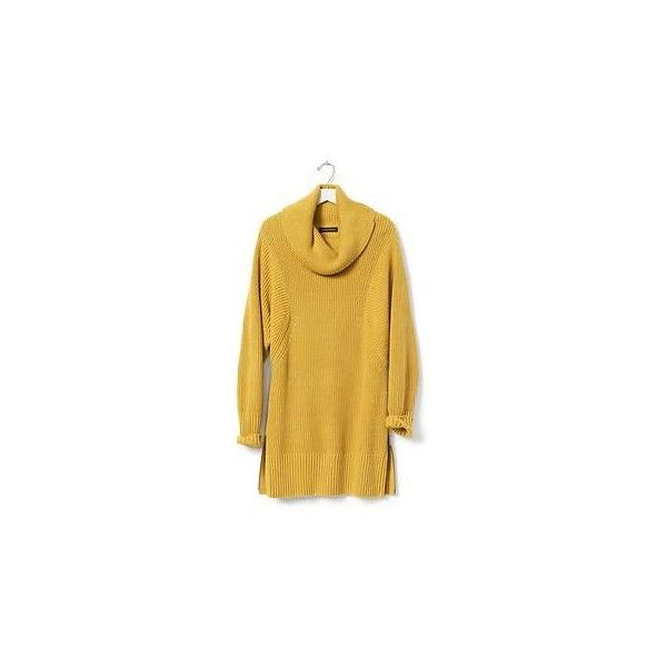 Banana Republic Womens Turtleneck Zip Sweater Tunic Size XL - Golden... (115 CAD) ❤ liked on Polyvore featuring tops, sweaters, brown turtleneck, zipper sweater, pullover sweater, sweater pullover and banana republic sweaters