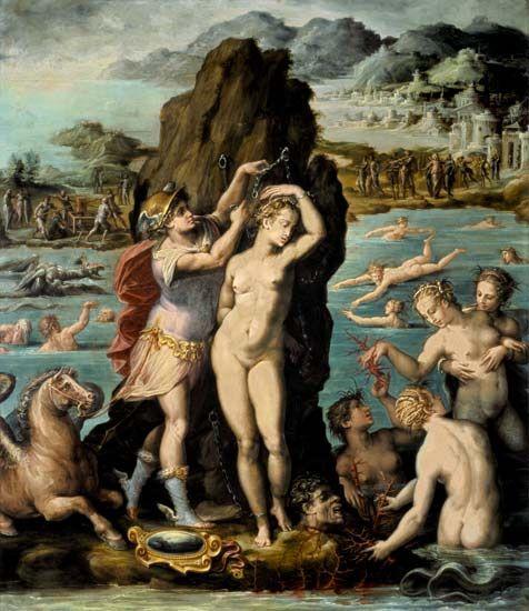 Giorgio Vasari Perseus And Andromeda 1570 72 Florence Palazzo Vecchio Painted For The Studiolo Of Francesco I Giorgio Vasari Art Greek Art