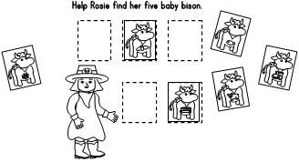 Worksheet: Cut & Paste. Help Cowgirl Rosie find her