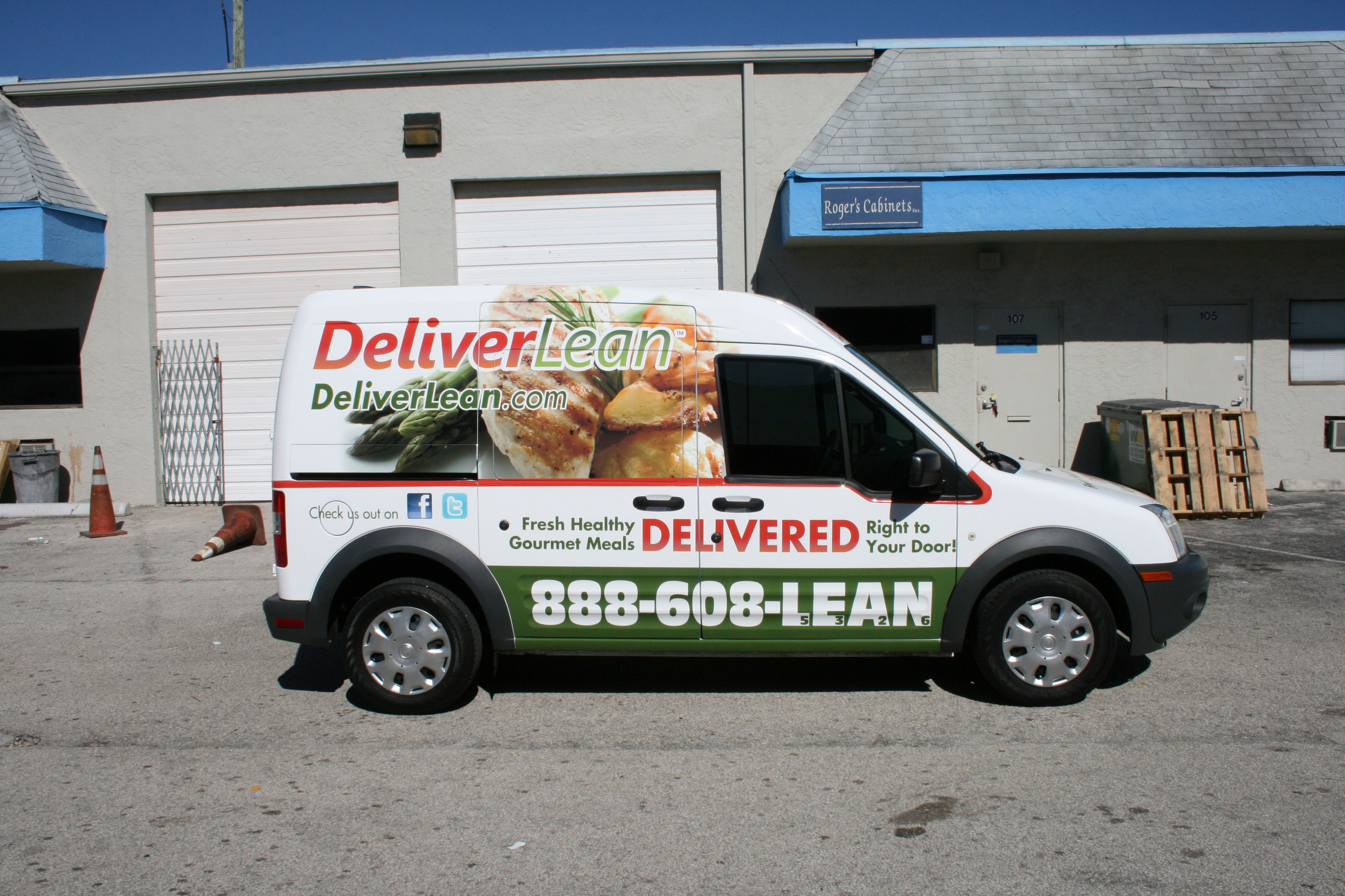 Ford Transit Connect Delivery 3m Vehicle Wrap Boca Raton Florida