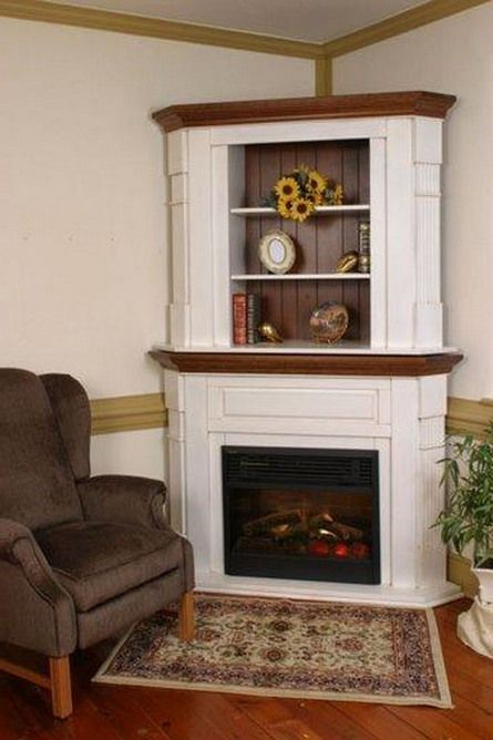 Corner and Cozy fireplace