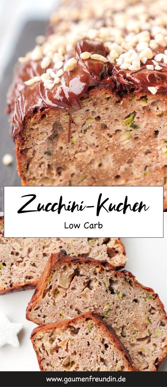 Low Carb Kuchen mit Zucchini, Apfel und Mandeln