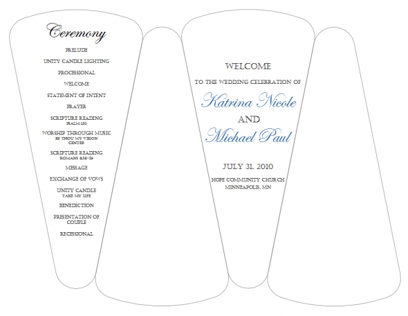 dyi template for program fans free template wedding black blue