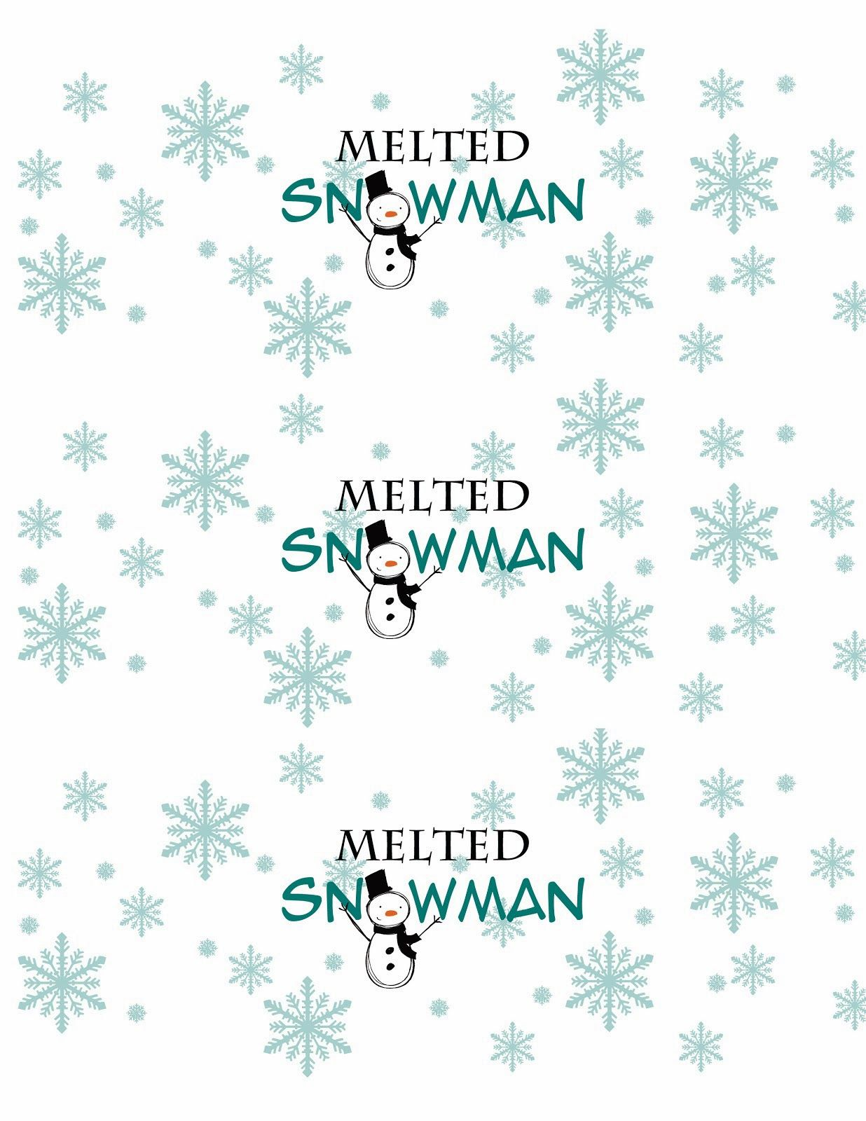 Labels for bottles of water for Christmas presents
